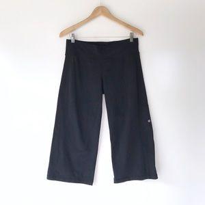 Lululemon Black Wide Leg Cropped Pants